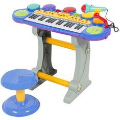 Best Child's Keyboard And Microphone! - Bongos Congas - Drum Sets For Kids!