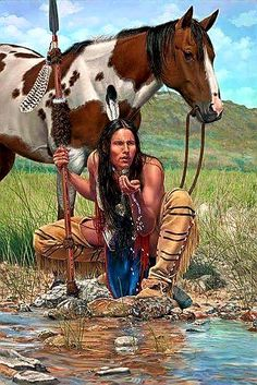 ideas for painting indian artworks native american art Native American Warrior, Native American Tribes, Native American History, American Indians, Native American Paintings, Native American Pictures, Indian Artwork, Indian Paintings, American Indian Art