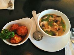 Food & Drinks - Fried Dumplings and Tom Yum Soup. See More on http://www.thequirkybits.com/.