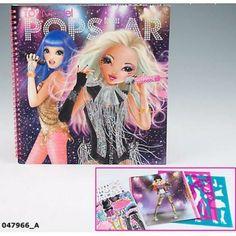 Album de coloriage Top Model PopStar, cadeau enfant fille