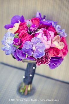 @Amie Adams Faloon pink purple amaranth fuchsia wedding bouquet flowers