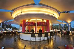 Outdoor Kiku Japanese Restaurant at Olympic Hotel