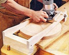 Chair Seat Scooping Jig - Woodworking Tips and Techniques   WoodArchivist.com