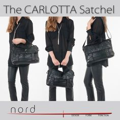 Carlotta leather satchel 3 ways http://www.nord.red/store.html#!/Carlotta/p/43337429/category=11736005 #fbloggers #streetstyle #nordstyle #ootd #womensfashion #britishdesign #madeinitaly
