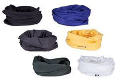 Set of 6 HBY8482 Versatile Sports  Casual Headwear  Wear as a Bandana Neck Gaiter Balaclava Helmet Liner Mask  More ** Click image for more details.(This is an Amazon affiliate link and I receive a commission for the sales)