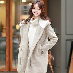 Gmarket - Attrangs 2 Tone coat / hooded / quilted / zip up /