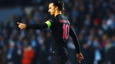 Zlatan Ibrahimović keeps his celebrations low key after firing in the third Paris goal in the minute Uefa Euro 2016, Euro 2012, Website Features, European Football, Uefa Champions League, Low Key, Derby, Competition, Soccer