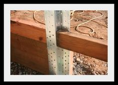 how to replce a wood fence post with metal post - Google Search
