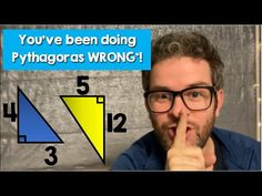 You've been doing Pythagoras wrong your whole life! Some special right-angled triangles allow for a different application of Pythagoras' Theorem. Math Resources, Triangles, Mathematics, Teacher, Classroom, Writing, Life, Math, Class Room