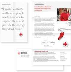 """American Red Cross, subtly made modern, rebranded with gray typography and a new drop-shadowed """"pin"""" logo.  Nice!"""