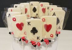 Chocolate Casino Playing Cards Lollipops by ClaudetteEdibleCreat