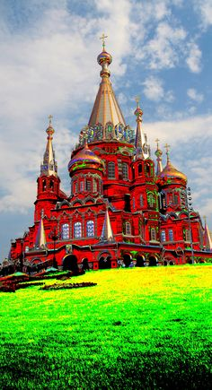 Saint Michael's Cathedral in the city of Izhevsk, the Western Urals, #Russia.