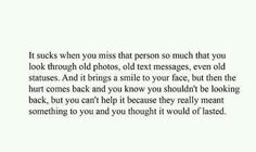 I miss you quote.