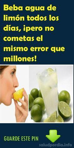 Beba agua de limón todos los días, ¡pero no cometas el mismo error que millones! #agua #limón #millones #salud