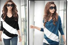 $19 for a Women's Cowl Neck Striped Long Sleeve Top - Shipping Included