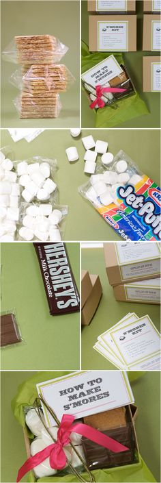 S'more kits - party favors