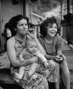 Members of a coal miner's family. Photograph by Alfred Eisenstaedt. Lundale, West Virginia, October 1943.