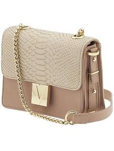 Vince Camuto blush metallic shoulder bag