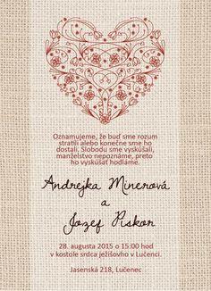 Svadobné oznámenie NO9- online moderné svadobné oznámenie