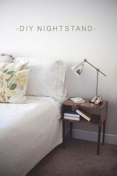 Awesome and simple COMPLETE how to for diy nightstands!!  Think outside the box.