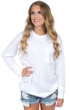 White - Pearls are Appropriate - Long Sleeve Front