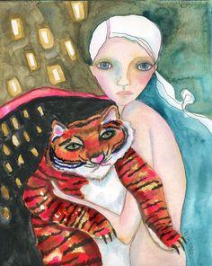 Bad Kitty Original Aquarell