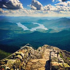 The view from Whiteface Mountain, NY.