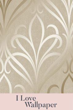 Enhance any room with this beautiful Camden Damask Wallpaper in cream and gold at I Love Wallpaper. This stunning paper features a subtle vinyl-textured background complemented by a gold damask pattern made from metallic ink. Our Camden Damask Wallpaper in cream and gold works perfectly as a feature wall and gives any interior a luxurious and welcoming feel. Damask Wallpaper, Love Wallpaper, Diy Fashion Hacks, Cream And Gold, Beautiful Wall, Camden, Pattern Making, Textured Background, Metallic