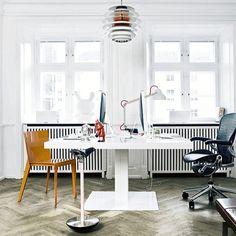 our @holmrisoffice MILK desk by @sorenrose and #wästberg Studioilse w084 lamp. Ilse Crawford www.wastberg.com