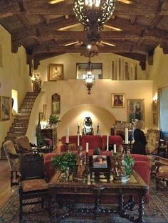 Spanish Style Homes Decor Ideas Spanish Style Homes Decor Ideas. When you want to decorate your home in a Spanish style, you will have a lot of fun. The Spanish style is very interesting with vibra… Spanish Colonial Homes, Spanish Style Homes, Spanish House, Spanish Revival, Spanish Interior, Home Interior, Interior Design, Interior Balcony, Style At Home