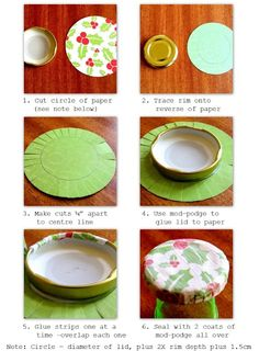 Turorial=PaperVine: Covered Lids Tutorial plus Homemade Christmas Gifts!