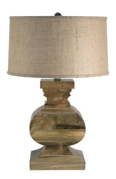 Lamp Works - Solid Wood Square Urn