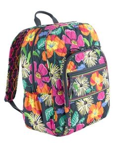 I really want this Vera Bradley Campus Backpack in jazzy blooms! It's such a cute pattern. - handbag, fossil, fendi, guess, hermes, rebecca minkoff purses *ad