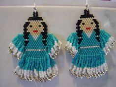 Native Amerian Beaded Turquoise and Silver  by BeadedCreationsetc, $30.00