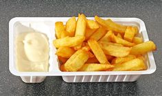 Dutch Fast Food Patatje Met..Translation- French Fries and Mayo..not a fan of the mayo, and ketchup is not used too much.