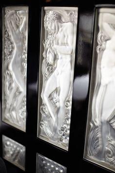 Sublime glass panels on the Venice Simplon-Orient-Express Train, designed by René Lalique.