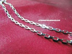 Ladies 316L Stainless Steel Bracelet 3mm Long Link Box Chain