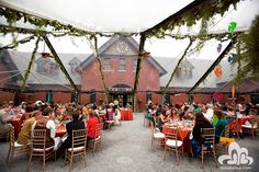 A beautiful Clearspan tent is perfect for outdoor events where you still want to enjoy the scenery around you.