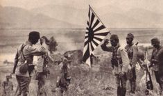 Japanese Navy Marine (SNLF) officers link up on the battlefield during the Canton Operation, 1938.