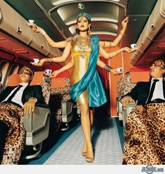 Air India Hostess  This would be great to see.  GM Flight Attendants