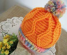 Ravelry: Alegria Baby Hat pattern by Lilia Vanini Crochet Baby Hat Patterns, Baby Sweater Patterns, Crochet Baby Hats, Baby Patterns, Crochet Yarn, Crochet Hooks, Knitted Hats, Baby Beanie Hats, Baby Bonnets