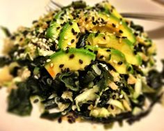 Wakame, zucchini, avocado and fresh pickled ginger salad