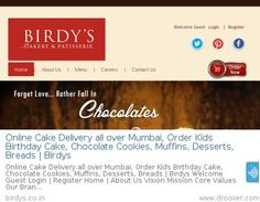 Online Cake Delivery all over Mumbai, Order Kids Birthday Cake, Chocolate Cookies, Muffins, Desserts, Breads | Birdys
