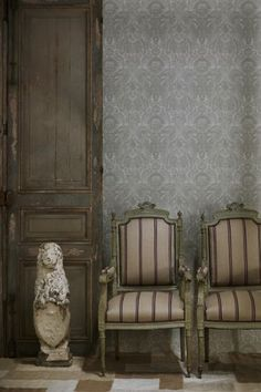 Kew Wallpaper -  10m Roll - Charcoal, Neutral or Taupe