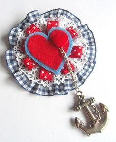 sweet heart brooch