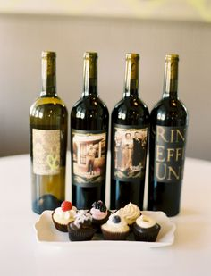 Corks & Cakes: A cupcake & wine pairing event. Cute Wedding Dress, Fall Wedding Dresses, Colored Wedding Dresses, Perfect Wedding, Wedding Events, Wedding Reception, Our Wedding, Dream Wedding, Wine Cupcakes