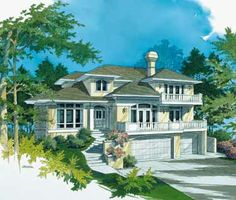 California Dreams (HWBDO00066)   Mediterranean House Plan from BuilderHousePlans.com