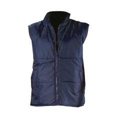 Mens Insulated Toot Bodywarmer Sleeveless Gilet Padded Vest XXL New zip Navy Sleeveless Coat, Man Quilt, Body Warmer, New Look, Collars, Raincoat, Vest, Boutique, Zip