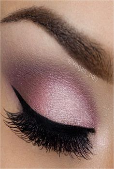 pink & purple eyeshadow - not that dark of eye liner or lashes though