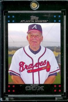 2007 Topps #256 Bobby Cox Atlanta Braves Baseball Card - Mint Condition - Shipped in Protective Display Case! by Topps. $1.95. 2007 Topps #256 Bobby Cox Atlanta Braves Baseball Card - Mint Condition - Shipped in Protective Display Case!